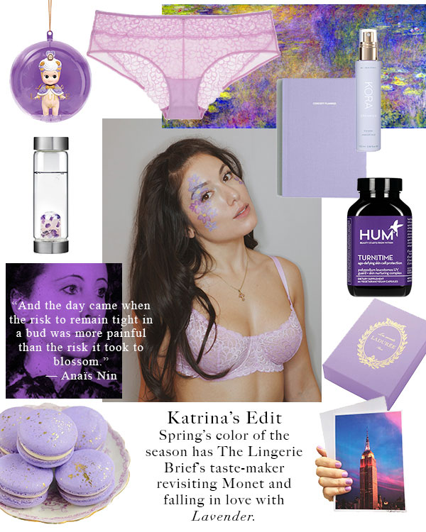 Lavender Edit board by Katrina Eugenia exclusively for Lingerie Briefs