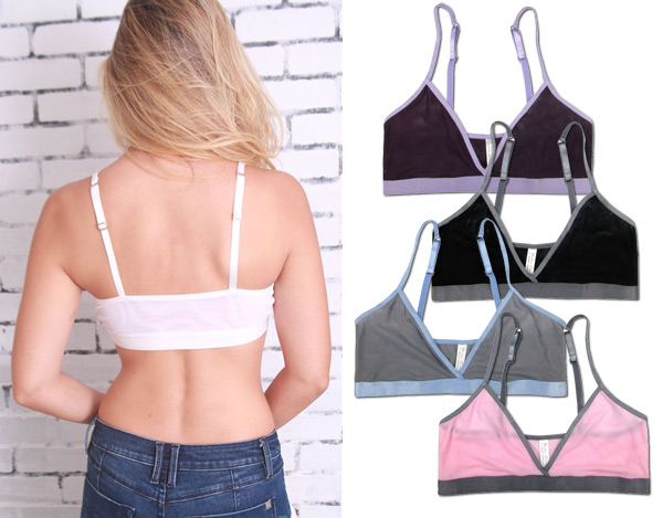 new UC Sheer Mesh Bralette collection from Coobie back view in 6 colors