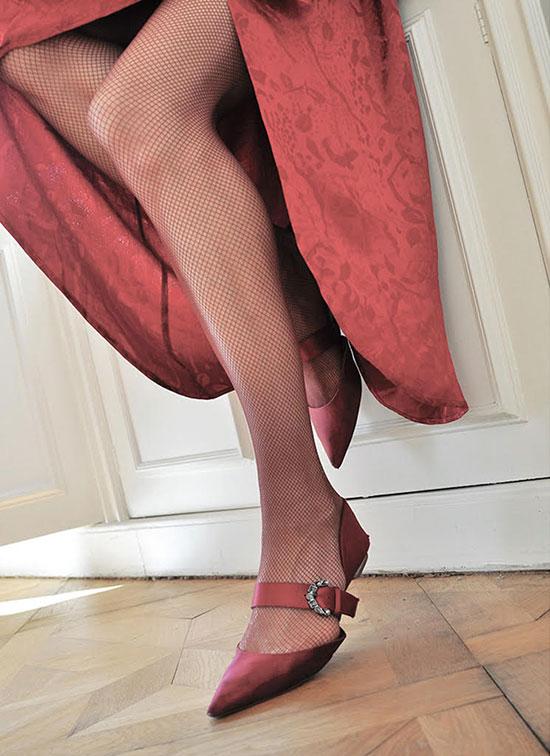 Fishnet Stockings from Swedish Stockings on Lingerie Briefs