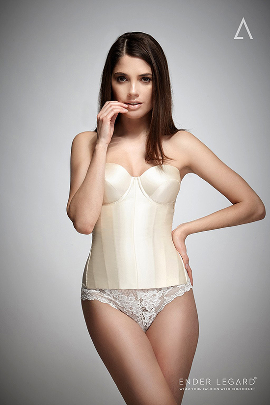 Ender Legard's Ava strapless corset featured on Lingerie Briefs