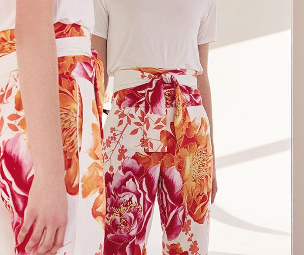 Natori Bali Print Pajamas on Lingerie Briefs