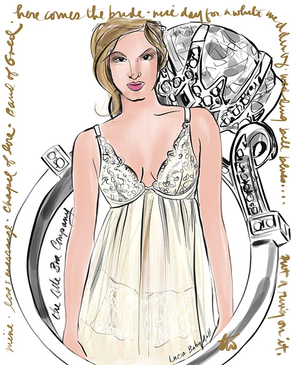 The Little Bra Company Lucia babydoll illustrated by Tina Wilson for Lingerie Briefs