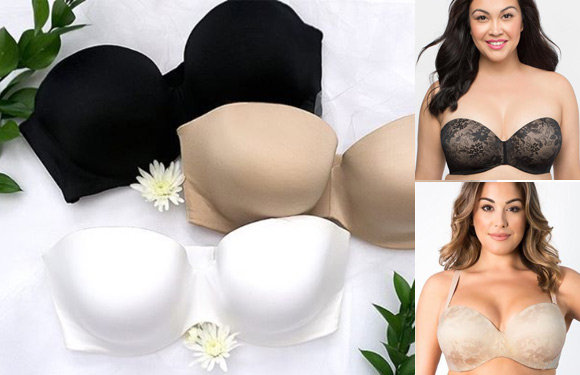 Curvy Couture Mulit-Way Strapless bra - for brides or anytime - as seen on Lingerie Briefs