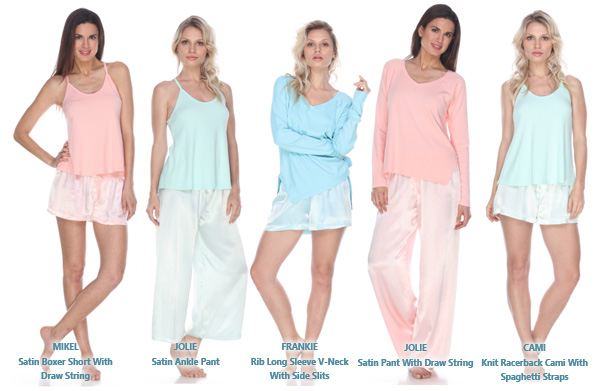 Limited edition summer colors PJ Harlow loungewear as seen on Lingerie Briefs