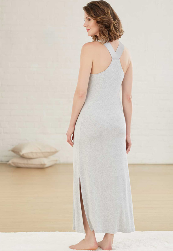 New Fleur't Intimates Urban Escape long gown as seen on Lingerie Briefs