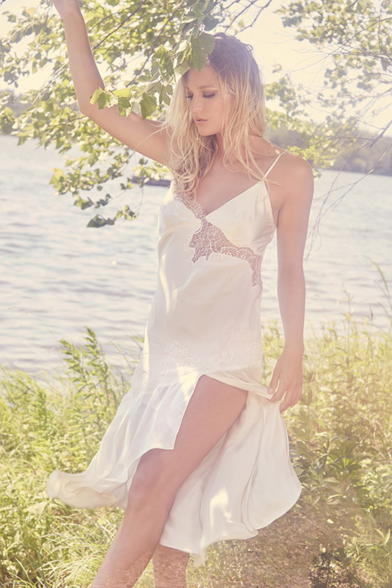 Helen Sanchez slip dress photographed by Stephanie Hynes for Lingerie Briefs