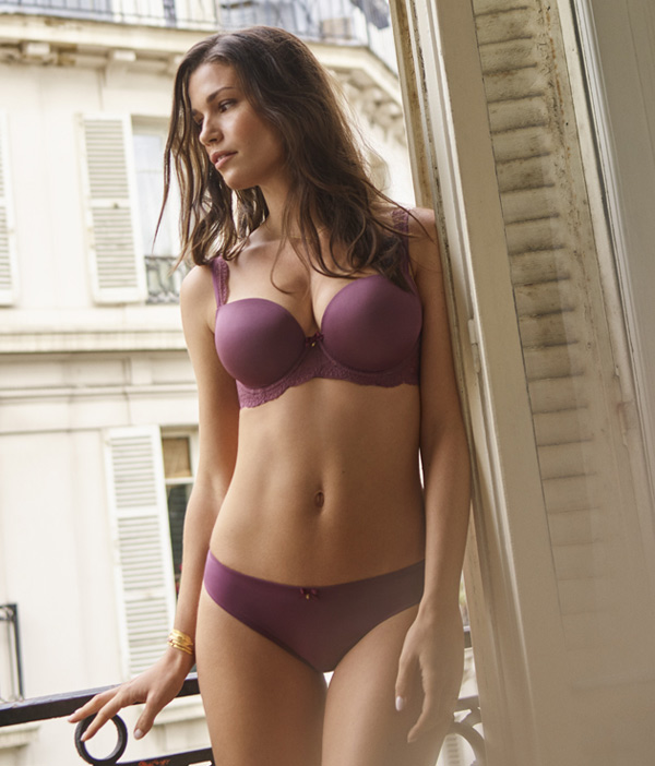 Panache Ardour Sweetheart Bra in warm rosehip shade - featured on Lingerie Briefs