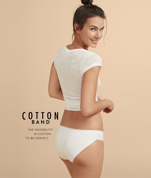 Cotton Band panty collection from Janira - featured on Lingerie Briefs