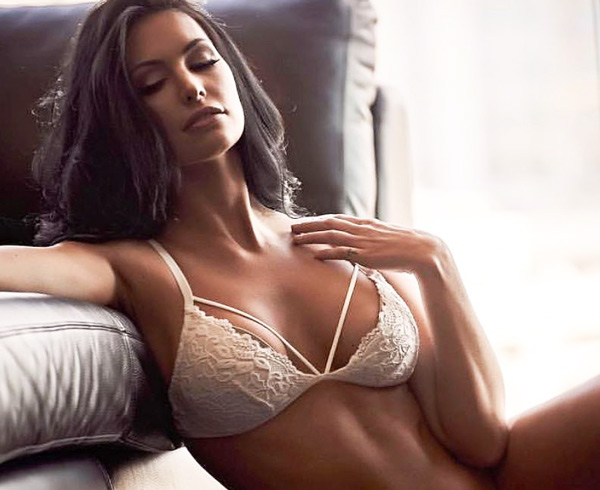 Stephy Sobotka models Undie Couture - Coobie Date Night Lace Bralette featured on Lingerie Briefs