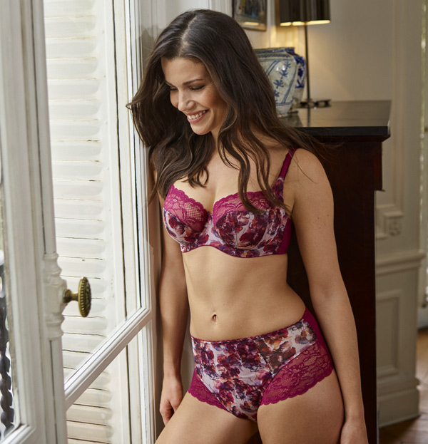 New Jasmine autumn floral bra from Panache - featured on Lingerie Briefs