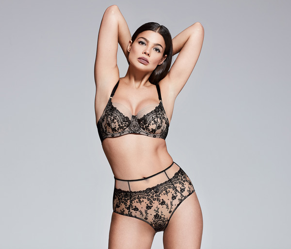 Katherine Hamilton British Luxury Lingerie 'Abrielle' featured on Lingerie Briefs