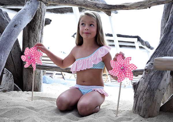 Pate de Sable Childrens Beachwear on Lingerie Briefs