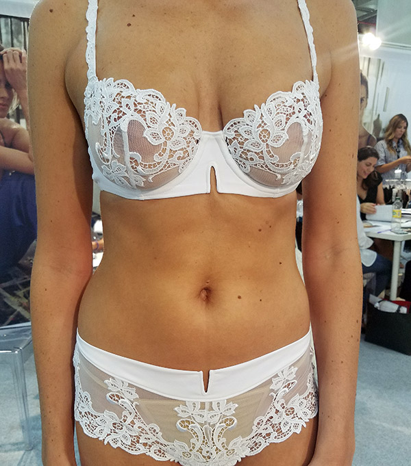Simone Perele white lingerie on Lingerie Briefs