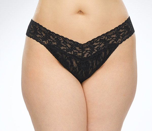 Hank Panky Plus size lace thong on Lingerie Briefs
