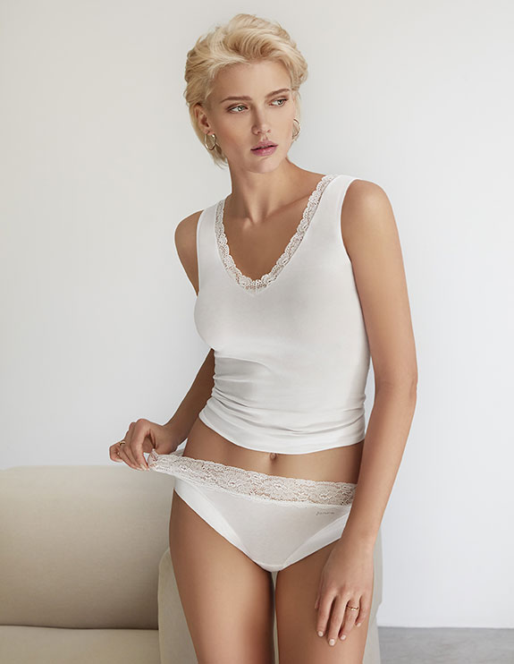 "Janira Dolci Cotton Collection with ""Silk Touch"" Cotton Featured on Lingerie Briefs"