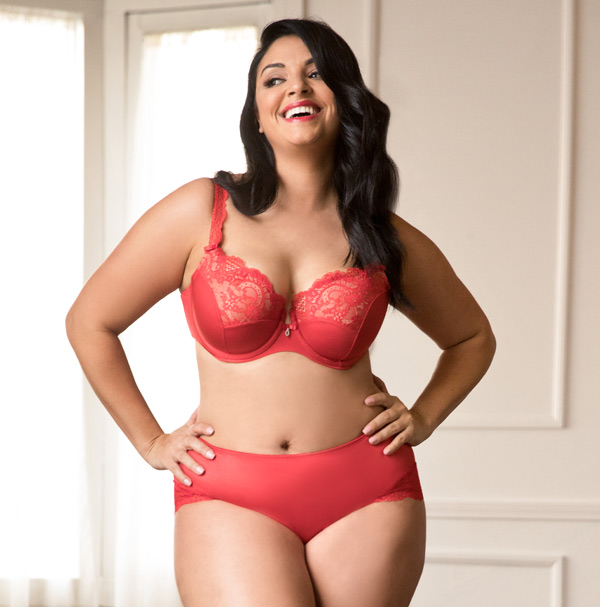 Curvy Couture Tulip Lace Push-Up Collection now in Rouge Royal - featured  on Lingerie 237c584fb