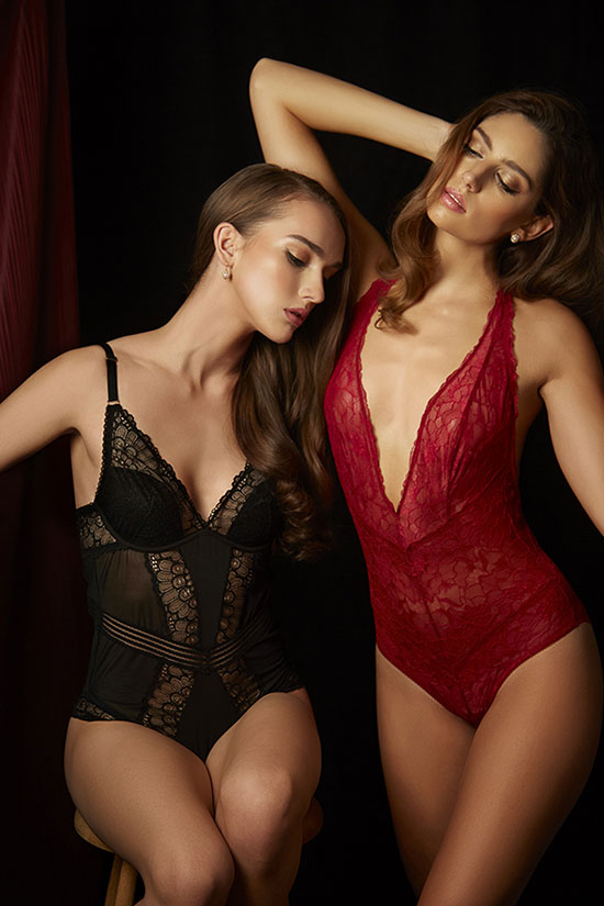 Montelle and Samantha Chang photographed by Stephanie Hynes for Lingerie Briefs