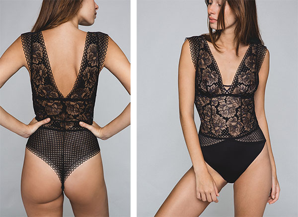Maison Lejaby Dot Flowers Bodysuit on Lingerie Briefs