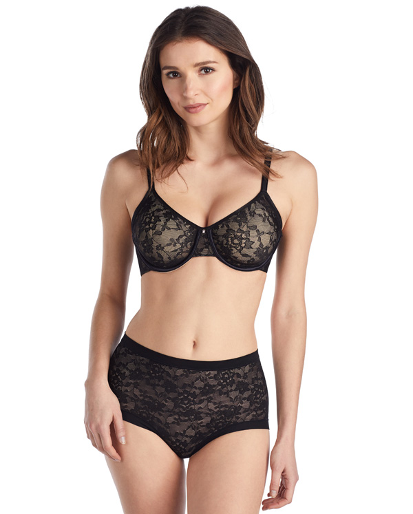 Le Mystere Lace Perfection Smoother creates a a sleek and unlined silhouette featured on Lingerie Briefs