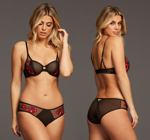 Montelle Intimates Night Blooms Balconnet and Hipster featured on Lingerie Briefs
