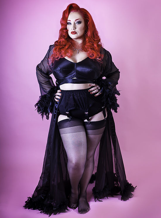 the Nylon Swish vintage shapewear and robes for Curvy Women as seen on Lingerie Briefs
