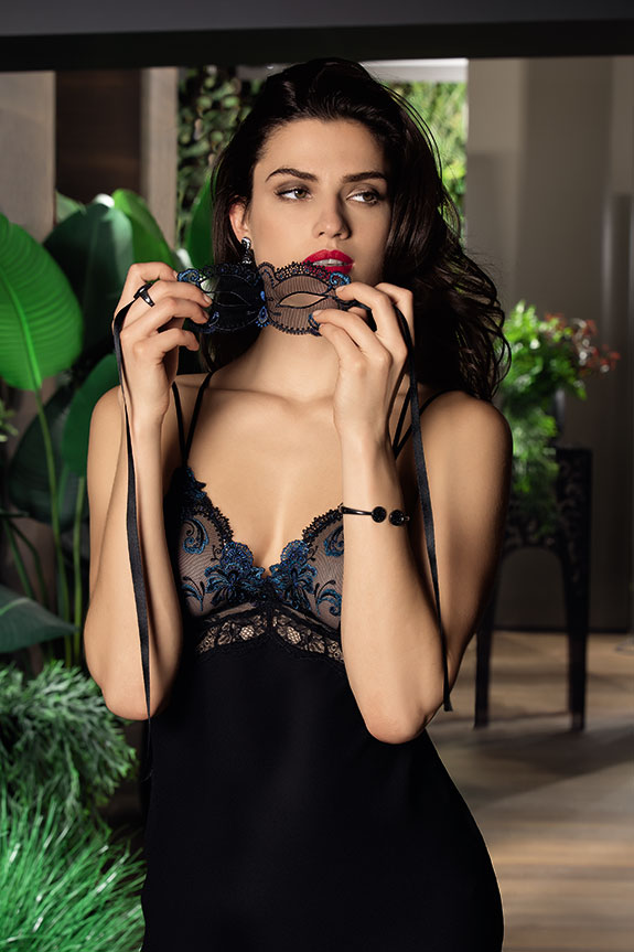 Lise Charmel Nuit Elegance silk chemise as featured on Lingerie Briefs