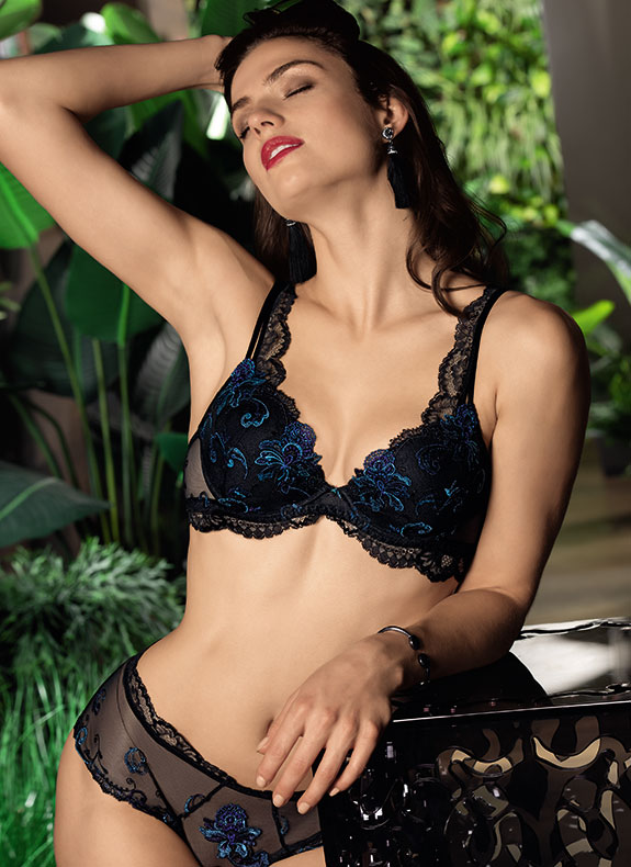 Lise Charmel Nuit Elegance plunge bra as featured on Lingerie Briefs