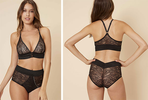 Simone Perele Afterwork Bralette and Hi-Waist Brief on Lingerie Briefs