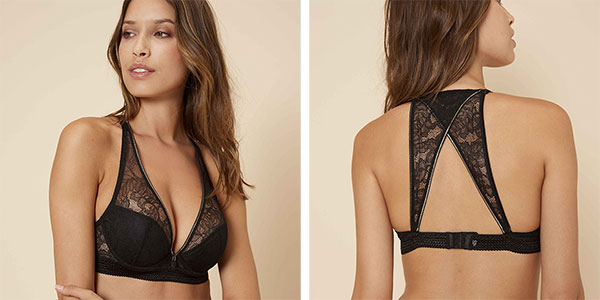 Simone Perele Afterwork Triangle Contour and Removable Lace Back on Lingerie Briefs