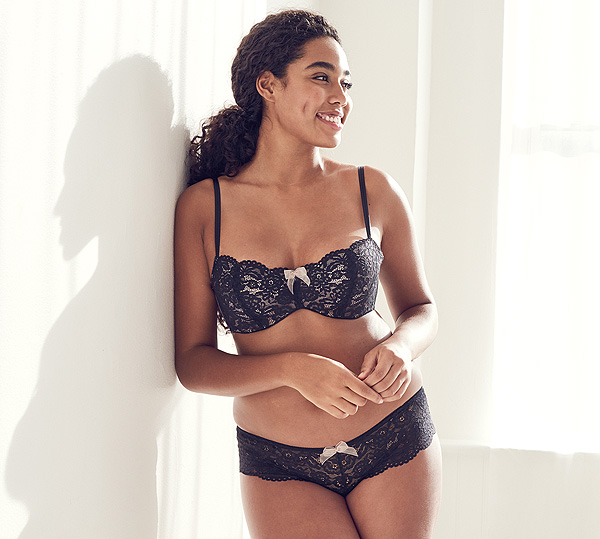 b.tempt'd new Ciao Bella Balconette Bra and Tanga in Night - featured on Lingerie Briefs