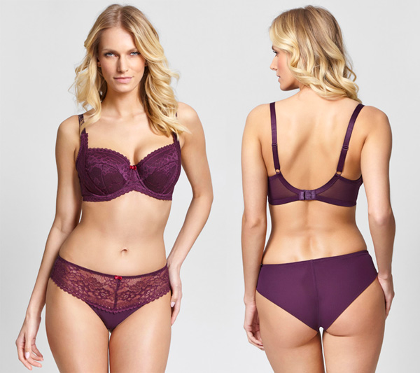 Coming soon! Panache Petra in deep plum for SS19 featured on Lingerie Briefs