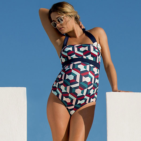 The Napoli maternity swimsuit from Cache Coeur on Lingerie Briefs