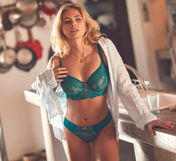 Cleo's Piper in emerald for SS19 - featured on Lingerie Briefs