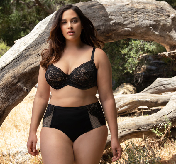 Curvy Couture's new Beautiful Bliss Lace Unlined Balconette featured on Lingerie Briefs