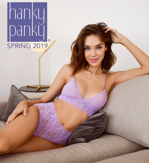 Hanky Panky Signature Lace padded bralette and french brief featured on Lingerie Briefs