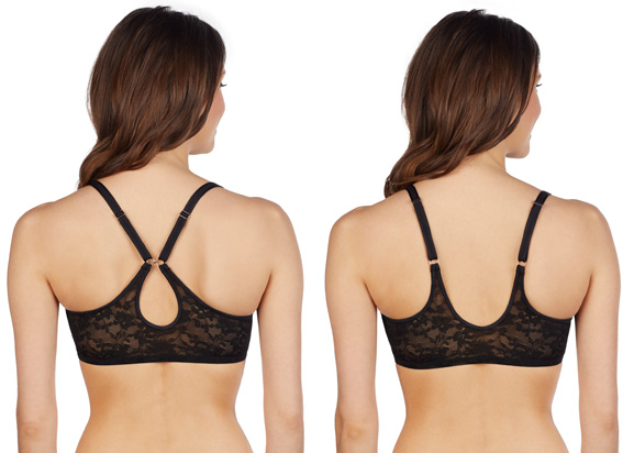 back straps - Le Mystere's Lace Perfection Convertible Racerback bra featured on Lingerie Briefs
