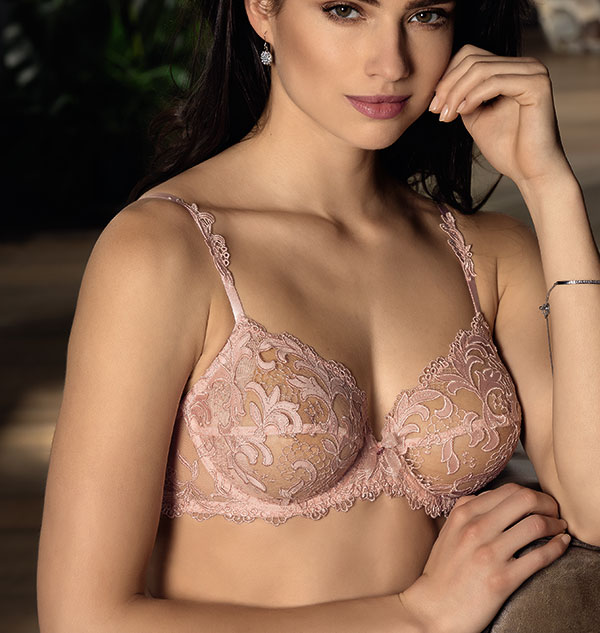 Lise Charmel Acanthe Arty in powder pink on Lingerie Briefs