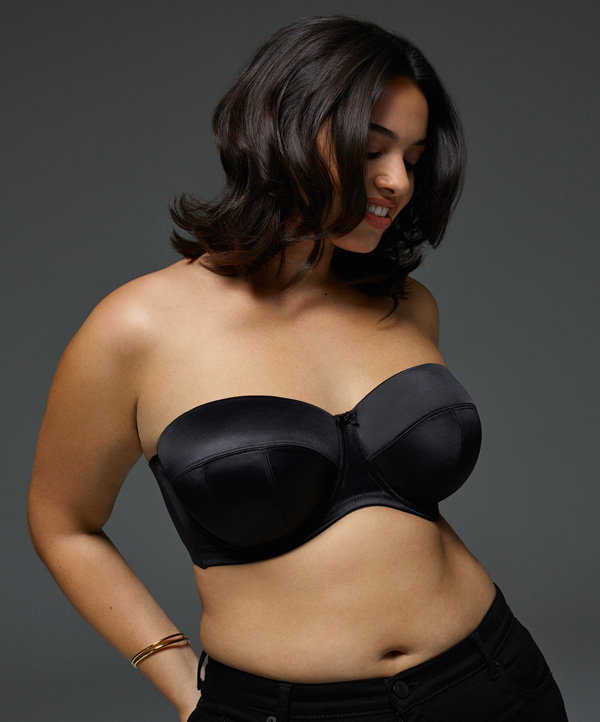 Sculptress Dana strapless in black for SS19 featured on Lingerie Briefs