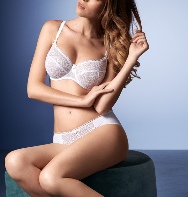 Empreinte's New Kate Collection in white as featured on Lingerie Briefs