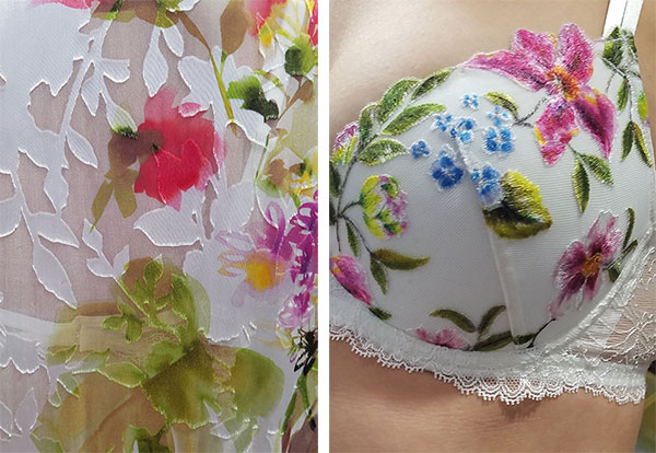 Detail from Lise Charmel Baisers d'ete collection on Lingerie Briefs