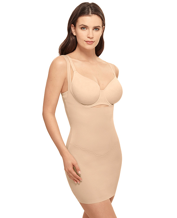 Wacoal's lightweight, powerful Inside Edit Open Bust Shaping Slip featured on Lingerie Briefs