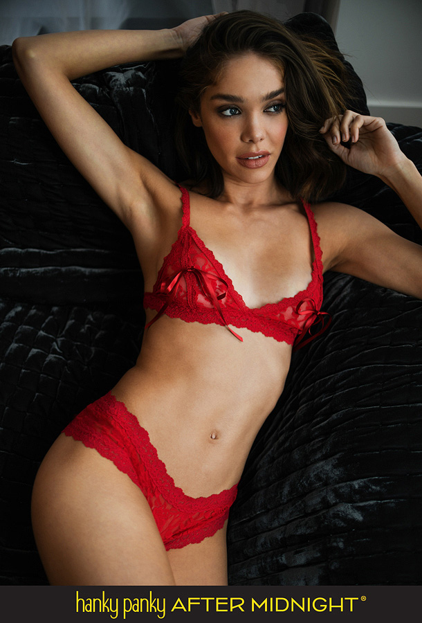 Hanky Panky After Midnight's Racy Signature Lace Tie Bralette & Crotchless Cheeky Hipster featured on Lingerie Briefs