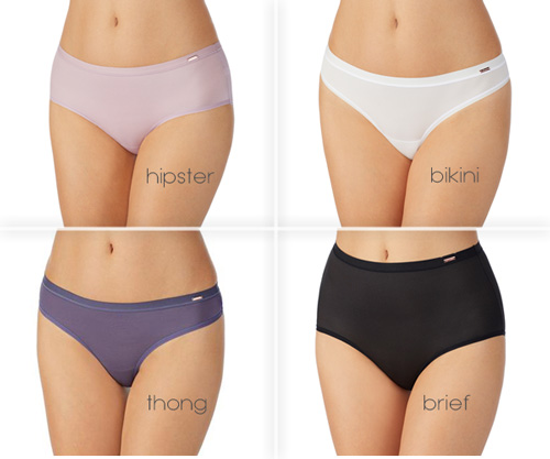 Le Mystere Infinite Comfort panties - 4 shapes featured on Lingerie Briefs