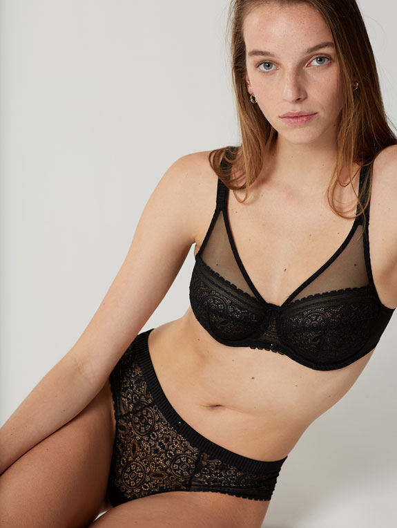 Maison Lejaby Mandala Collection Full Cup Bra and Brief as seen on Lingerie Briefs