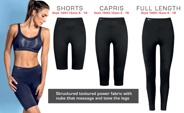 Anita Active massaging sport tights - 3 lengths - featured on Lingerie Briefs