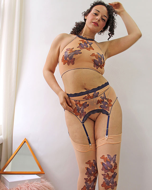 Uye Surana lingerie for sizes 28-42, A-H cups & XS-3X featured on Lingerie Briefs