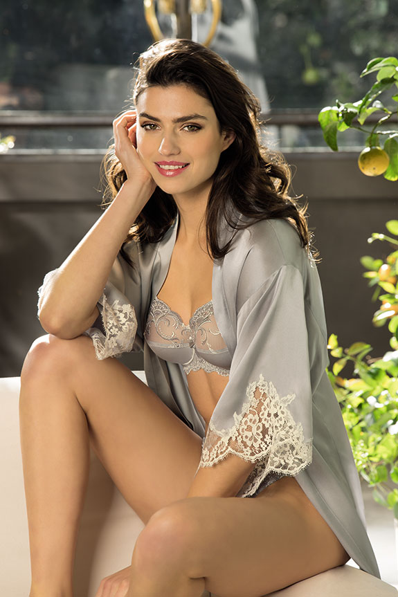 Lise Charmel Splendeur Soie Collection in platinum as featured on Lingerie Briefs