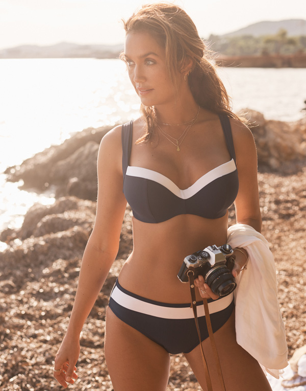 Panache Anya Cruise bikini in Navy and White SS19 featured on Lingerie Briefs