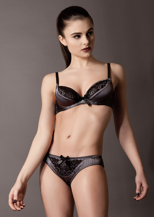 Emma Harris Signature Padded Plunge Bra and brief featured on Lingerie Briefs