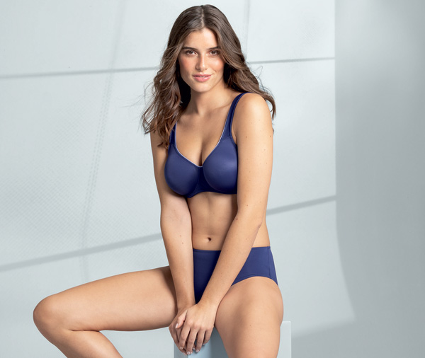 Rosa Faia Underwire Bra and Brief from their TWIN range - now in Patriot Blue as featured on Lingerie Briefs